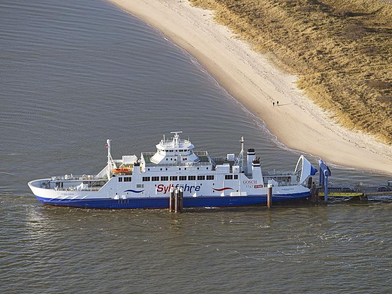 Syltferry at the landing pier in List on Sylt.